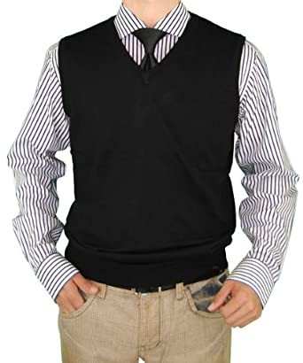 Luciano Natazzi Men's Classic Fit V-Neck Sweater Vest