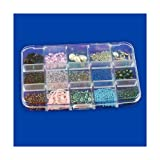 15-Compartment Bead Storage & Display Tray - Flush-Fit Lid