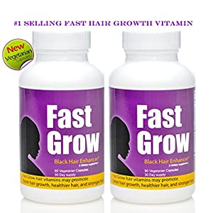 Fast Grow Ethnic Hair Growth Vitamins 2 Bottles For