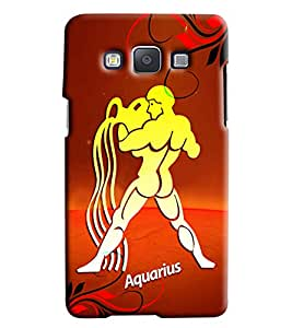 Clarks Sunsign Aquarious Hard Plastic Printed Back Cover/Case For Samsung Galaxy E7