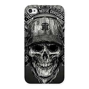 Premium Grey Skull Terr Back Case Cover for iPhone 4 4s