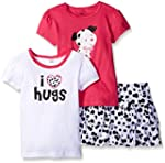 Gerber Girls' Three-Piece T-Shirt and...