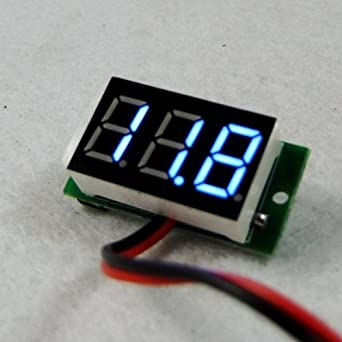 Ultra Mini Size Blue LED Volt Meter 4.5v ~ 30v No Power Required