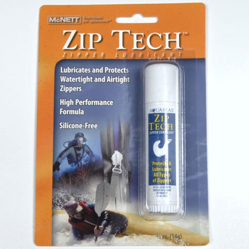 Zip Tech Zipper Lubricant for Outdoor Equipment, Scuba Gear, Zippers Bags, Ca...