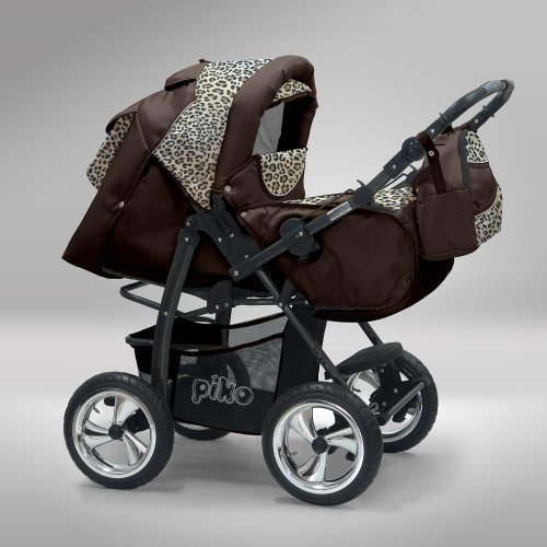 Akjax-Piko-3-in-1-in-40-Colours-Incl-Carry-Cot-and-Sun-Shade-and-Chrome-wheels-Buggy-Pram-Buggy