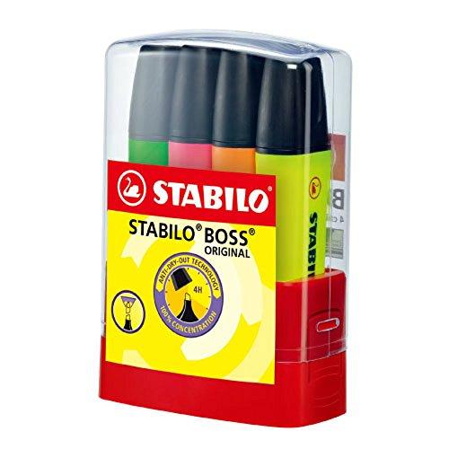 Stabilo 7004-4 Boss Original, Multicolore