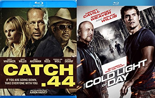 Cold Light of Day & Catch .44Blu Ray 2 Pack Bruce Willis Movie Action Set