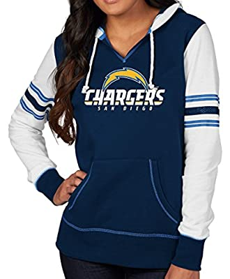 "San Diego Chargers Women's Majestic NFL ""Touchdown"" Pullover Hooded Sweatshirt"