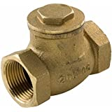 Everflow Supplies 210T012-NL IPS Threaded Brass Swing Check Valve 1/2 Inch - Lead Free