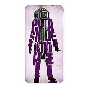 Premium Put A Smile Multicolor Back Case Cover for Galaxy Alpha
