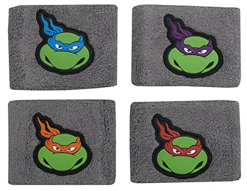 Teenage Mutant Ninja Turtles TMNT Cartoon Characters Set of 4 Wristbands
