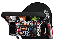 Stroller Organizer Top Quality Universal Fit 3 Unique Quality Fabric Choices - Perfect Baby Shower Gift - Lifetime Guarantee from Winkiepops