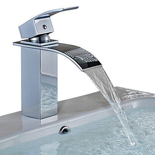 Auralum® Eleganter Einhebel Wasserfall Wasserhahn