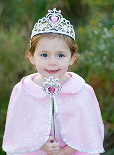 Great Pretenders Glitter Heart Tiara Wand Set