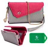 Alcatel One Touch Idol - Phone holder w/ wallet- includes cross body chain-