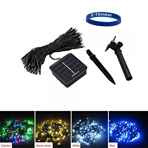 [Timed Promotion] E-Thinker 100 Led Solar Led String Lights For Gardens, Homes, Christmas Trees And Parties (White)