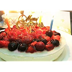 4種のベリーチーズケーキ ローソク・プレート・手紙付(誕生日ケーキ・バースデーケーキ)