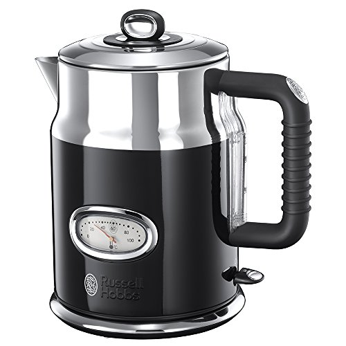 Russell Hobbs 21671-70 Retro Collection Bollitore, Classic Noir