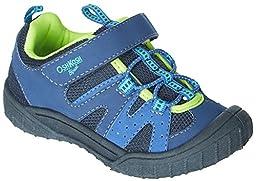 OshKosh B\'Gosh Horo B Athletic Sneaker (Toddler/Little Kid), Blue/Neon, 7 M US Toddler