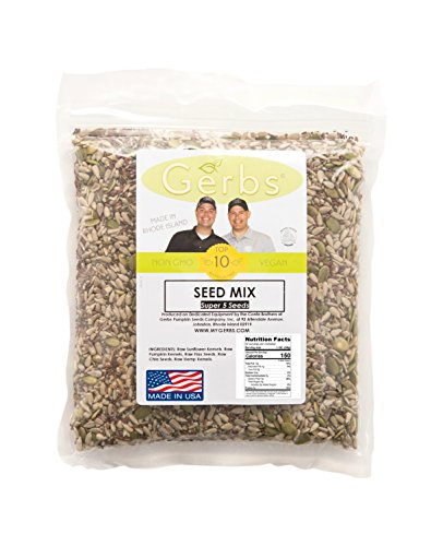 Pumpkin, Sunflower, Chia, Flax, Hemp Seed Raw Mix by Gerbs - 2LBS - Top 11 Food Allergen Free & NON GMO - Vegan & Kosher - Made in USA (Sunflower And Pumpkin Seeds compare prices)