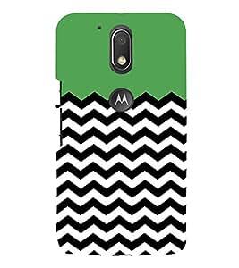 Zig Zag Line Pattern 3D Hard Polycarbonate Designer Back Case Cover for Motorola Moto G4 Plus :: Moto G4+