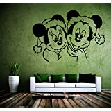 Decal Style Mickey & Minnie Wall Sticker Medium Size-21*15 Inch