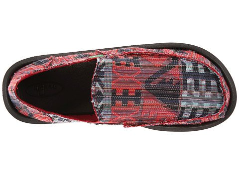 Sanuk Men's Donny Red/Sky Loafer 14 D - Medium