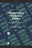Elementary Statistics Tables (Open University text) (041508458X) by Henry R. Neave