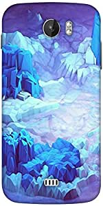 Snoogg Crystal Earth Designer Protective Back Case Cover For Micromax A110