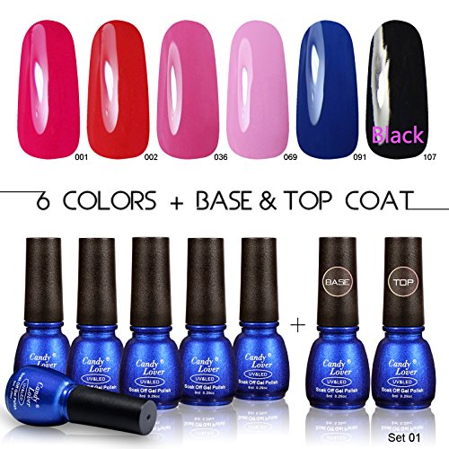 Candy-Lover-8ml-New-Hot-6pcs-Mini-Colors-Gel-Polishes-with-Clear-Base-Coat-and-Top-Coat-Nails-Polishes-Lacquers-Varnish-French-Manicure-UV-Led-Soak-Off-Set