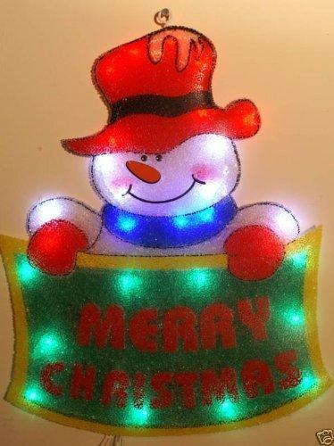 Christmas Concepts 55Cm Snowman Merry Xmas Banner Led Silhouette (Nl60)
