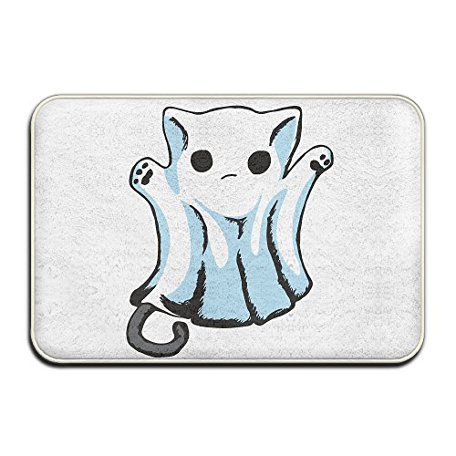 [Kitty Boo Halloween Doormats Non-slip Mats.rugs] (Roadkill Cat Costume)