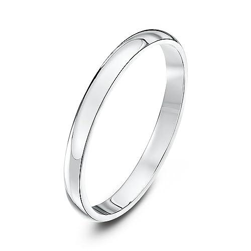 Theia Unisex Super Heavy D Shape Polished Platinum Wedding Ring