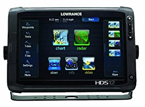 Lowrance 000-10775-001 HDS-12 Gen2 Touch with 12-Inch LCD Touchscreen, Multi-Function Display and Plotter with Built-In Depth Sounder, No Transducer