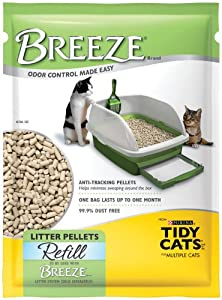 Tidy Cats Breeze Litter Pellet Refill, 3.5-Pound Packages (Pack of 6)
