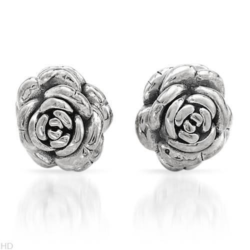 Sterling Silver Ladies Earrings. Length 17 mm. Total Item weight 4.3 g.