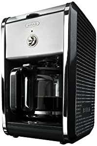 BELLA 13869 Dots Collection 12-Cup Coffee Maker, Black