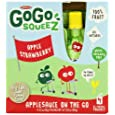 Materne GoGo Squeez Apple Strawberry Sauce, 3.2 Ounce -- 48 per case.