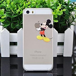 Coque Iphone 5 5S Mickey qui tient la pomme Apple Etui Housse Bumper: Amazon.fr: High-tech