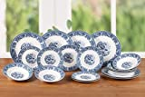 18 Piece Traditional Blue Dinner Set