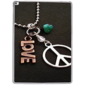 Casotec Love and Peace Design 2D Hard Back Case Cover for Apple iPad Pro 12.9 Inch - Clear