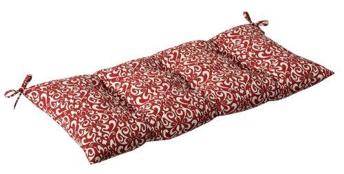 Buy Low Price CC Home Furnishings Outdoor Patio Furniture Tufted Bench Loveseat Cushion – Sangria Damask (B004UG62CU)