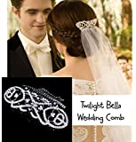 Twilight Breaking Dawn Replica Jewelry Bella Wedding Rhinestones Hair Bridal Comb W/ Velvet Pouch