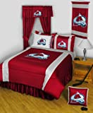 Colorado Avalanche TWIN 12 Pc Bedding Set (Comforter, Sheet Set, Pillow Case, Sham, Bedskirt, Valance/Drape Set - 84 inch Length & Matching Wall Hanging) - SAVE BIG ON BUNDLING! at Amazon.com