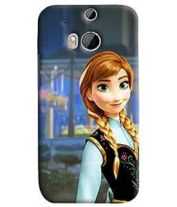 Blue Throat Aladin Princess Printed Designer Back Cover/Case For HTC One M8