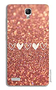 Little Hearts Coral Case for Redmi Note 4G