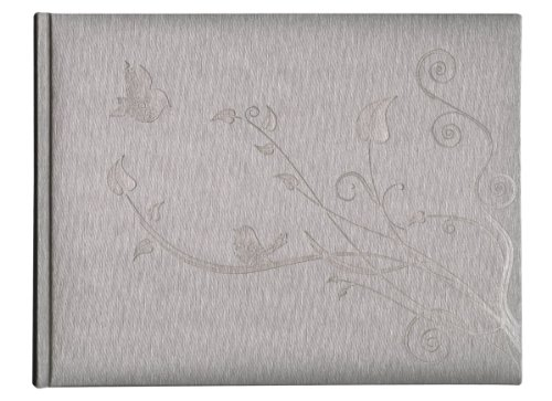 Pierre Belvedere Love Birds Guest Book, Padded Cover, Champagne (987930)