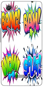 Snoogg Bang Bam Wow Splat Designer Protective Back Case Cover For Micromax Un...