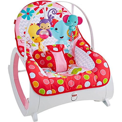 Fisher-Price Baby Infant-to-Toddler Rocker, PINK FLOWERY CHEVRON