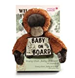 NICI Orang-Utan Baby with Baby on Board Sign 20 cm